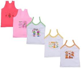Indiweaves Vest for Girls - Multi , Set of 12