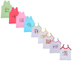 Indiweaves Vest for Girls - Multi , Set of 8