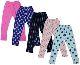 Indiweaves Cotton Printed Leggings - Multi
