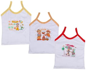 Indiweaves Vest for Girls - Multi , Set of 3
