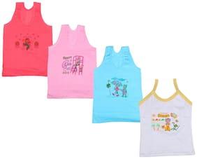 Indiweaves Vest for Girls - Multi , Set of 4