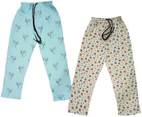 Indiweaves Girl Cotton Track pants - Multi