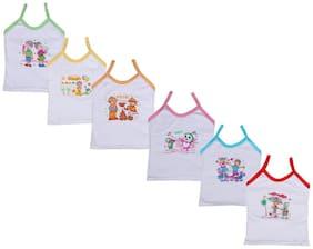 Indiweaves Vest for Girls - White , Set of 1
