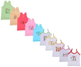 Indiweaves Camisole for Girls - Multi , Set of 10