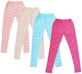 Indiweaves Cotton Printed Leggings - Pink