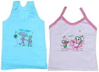 Indiweaves Vest for Girls - Multi , Set of 2