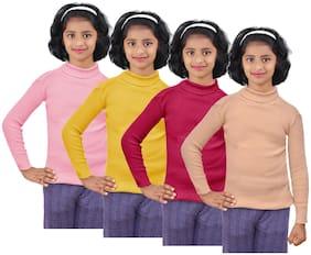 Indiweaves Girl Wool Striped Sweater - Multi