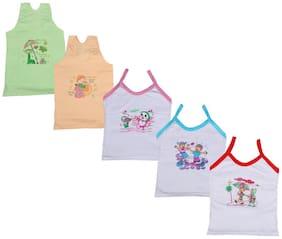Indiweaves Vest for Girls - Multi , Set of 5