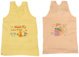 Indiweaves Vest for Girls - Multi , Set of 2