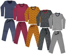 Indiweaves Girl Wool Top & Bottom Set - Multi