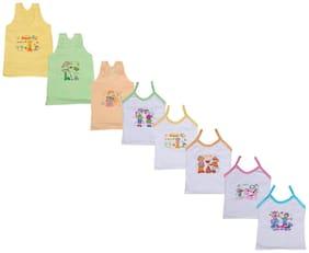 Indiweaves Vest for Girls - Multi , Set of 8