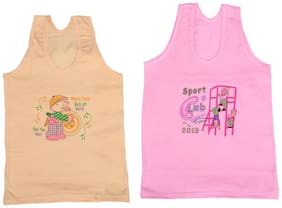 Indiweaves Vest for Girls - Pink , Set of 1