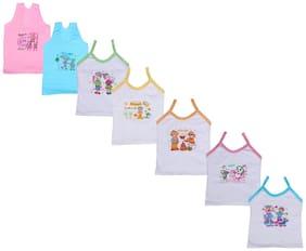 Indiweaves Vest for Girls - Multi , Set of 7