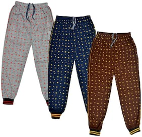 IndiWeaves Kids Cotton Printed Lower/Track Pant Pack of 3