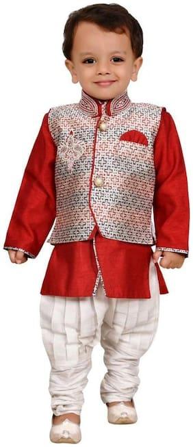 Red Kurta Pyjama Set