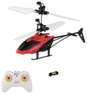 Induction Type Hand Sensor Flying Helicopter (Assorted Colors)