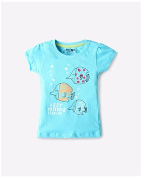 INF-FRENDS By Reliance Trends Infants Knit Blue Tshirts