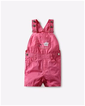 INF FRENDZ By Reliance Trends Baby Girl Blended Solid Jumpsuit - Pink 9401bc0c5