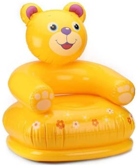 Inflatable Beautiful Happy Teddy Air Chair And Sofa For Kids Inflatable Sofa/ Chair (Pack of 1) Multi Color
