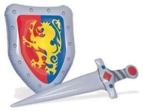 Inflatable Knight Sword and Shield Set Medieval Renaissance Party Decoration