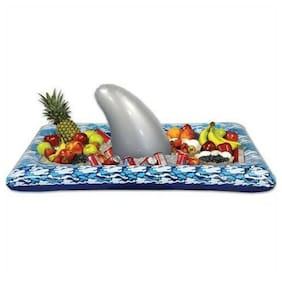 "Inflatable Shark Buffet Cooler 28"" x 54"" Nautical Cruise Luau Marine Life Party"