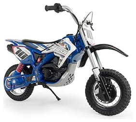Injusa Made in Spain Blue Fighter Motorcycle 24 Volt for Children with Electric Brake