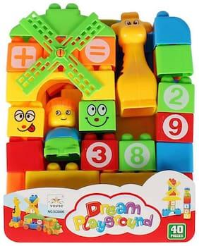 Inrange 40 PCS SET OF DREAM PLAYGROUND BLOCKS FOR KIDS