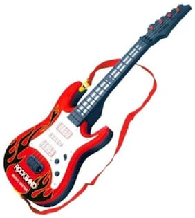Inrange Battery Operated Music And Lights Rock Band Guitar For Kids