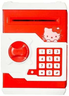 Inrange Electronic Piggy Bank ATM Password Lock Money Safe for Coins and Notes Collecting