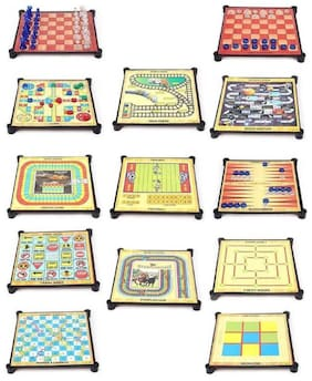 Inrange Kids new Family & friend 13-in-1-magnetic-ludo-chess-snacks-and-ladders-set-board-game