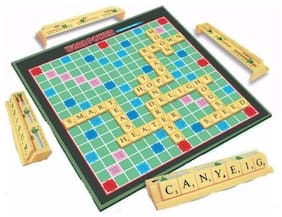 Inrange new Kids Word Power Premium The Cross Word Card Board Game of Scrable Game Board