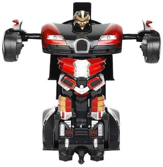 Inrange Remote Control Transforming Robot Toy Red Auto bots Remote Control car cum robot Realistic Engine Sounds