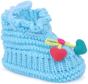 Instabuyz Blue Booties For Infants