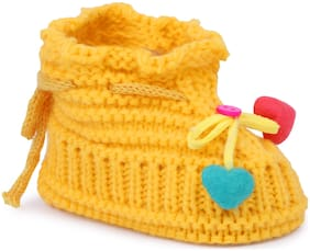 Instabuyz Yellow Booties For Infants