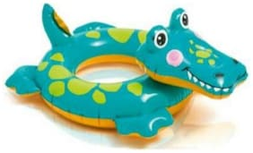 INTEX Big Animal Crocodile Swim Ring For Kids / Swim Ring / Swimming Floaters / Crocodile Shaped Swimming Rings for Kids Inflatable Pool Accessory (Multicolor)