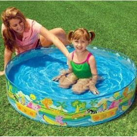 Intex ir Intex Swimming 4 Feet Pool For Kids No Inflation Home Garden Farmhouse No Need For An Air Pump Just Unfold & Ready To Use