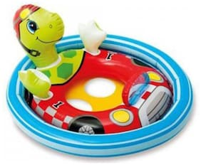 INTEX Original Inflatable See-Me-Sit Pool Riders (Turtle) Inflatable Pool Accessory (Multicolor)