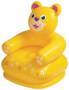 Intex Yellow Teddy Bear Inflatable Chair For Kids