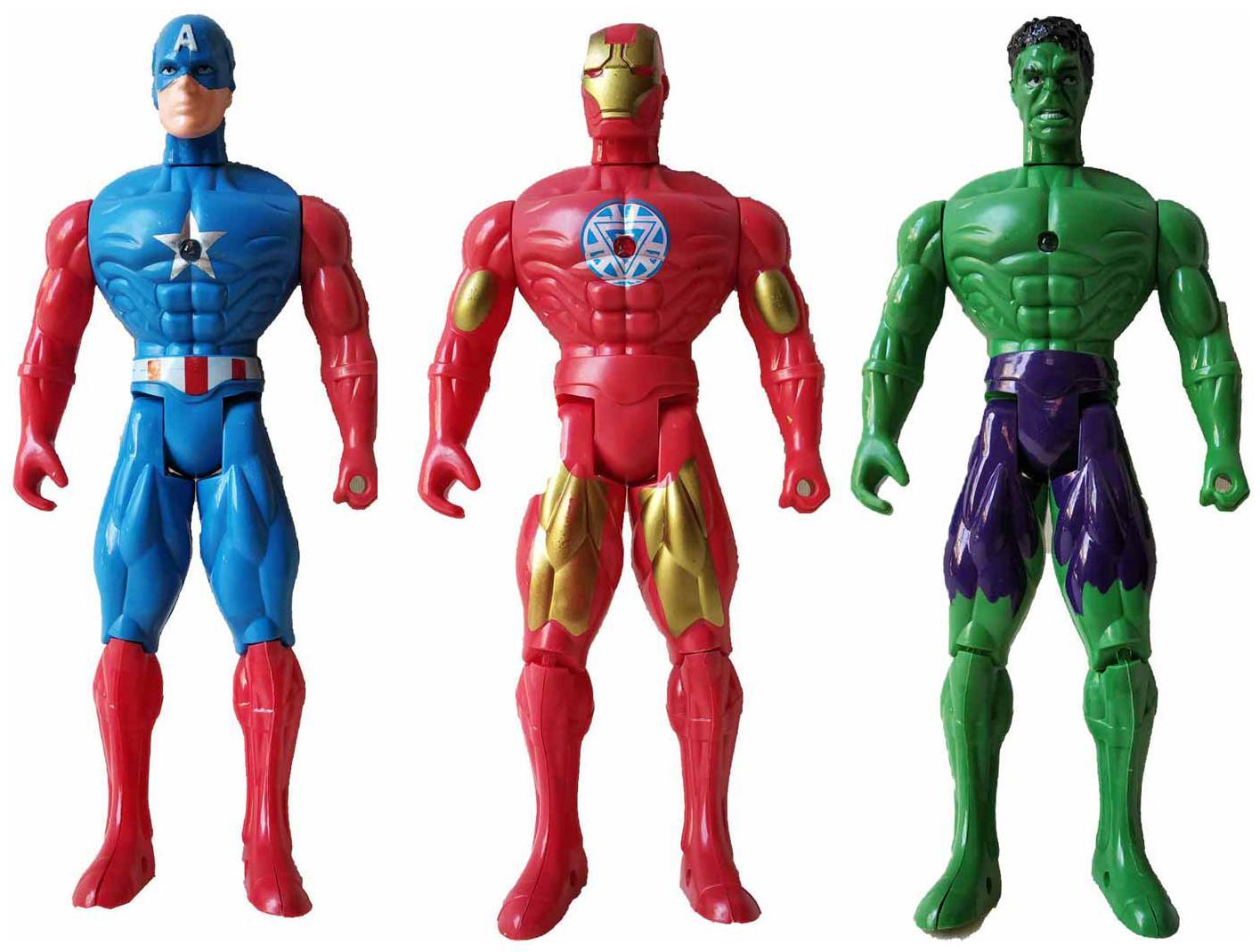 Iron Man,Captain America,Hulk Marvel Toys Avengers Infinity WAR Action   Figure Toys by Viji Enterprises
