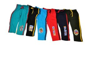 iSHU Boy Cotton Track Pants - Multi Pack Of 6