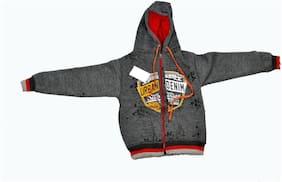 iSHU Boy Wool Printed Sweatshirt - Silver