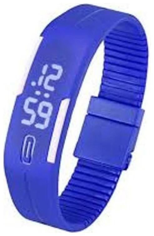 Ismart  Blue  Led Digital Watch For Boys   Girls  Ismart00044