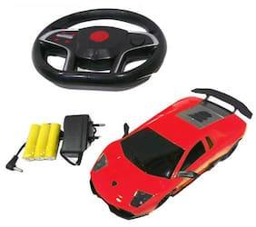 J H Traders Gravity Sensing Rechargeable Remote Controlled Car-Red