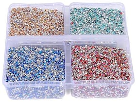 Jarkan rainbow shining stones, 1.80mm, 16000 pcs , 4 colors, used in jewelley , dresses, suits & sarees, paintings