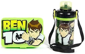 Jayco Ben10 Green Lunch Box and Bingo Big Water Bottle Set for Kids