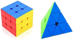 Jaynil  3x3x3 Speed Cube with Pyramid Cube