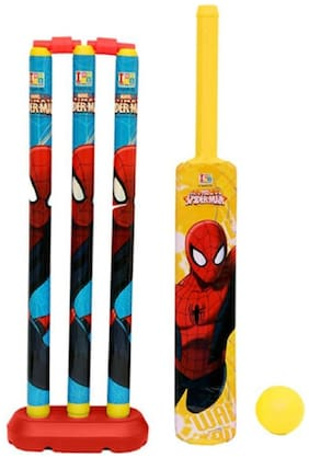 Jaynil  Amazing Kids Cricket Kit Set with Bat,Balls, Wickets,Bells- Indoor Beach Outdoor Garden Play Set for 2-6 Yrs Kids (Character May Very, 24 inch)