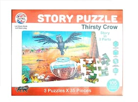 Jaynil  Educational Jigsaw 60 Pieces Story Puzzle for Kids ( Story May Very )