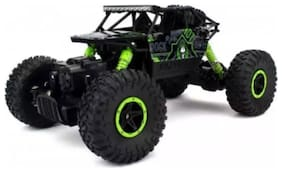Jaynil Enterprise Rock Crawler 1:18 Scale 4Wd 2.4 Ghz 4X4 Rally Car Rc Monster Truck Kids Play Toys;Green