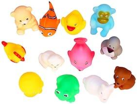 Jaynil Enterprise Soft Bath Chu Chu Sound Toys For Kids - Set Of 12 Multi-Color